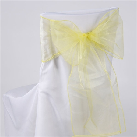 Daffodil Organza Chair Sash 10 Pieces