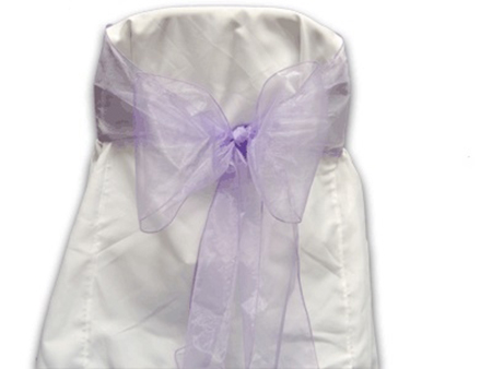 Light Orchid Organza Chair Sash 10 Pieces