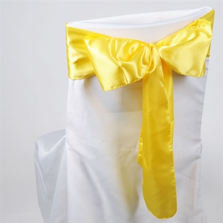 Daffodil Satin Chair Sash 10 Pieces