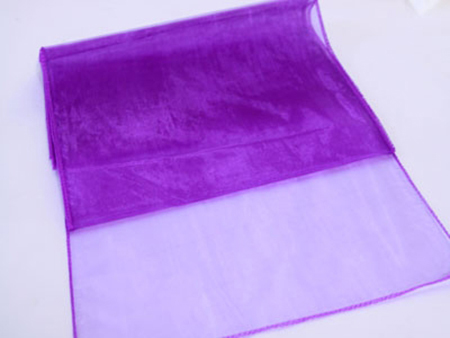 Purple Organza Table Runner