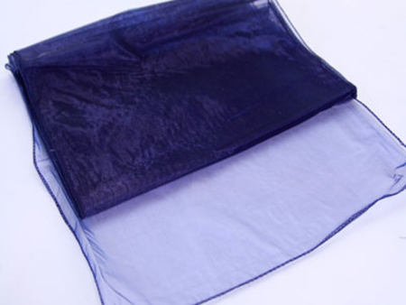 Navy Organza Table Runner