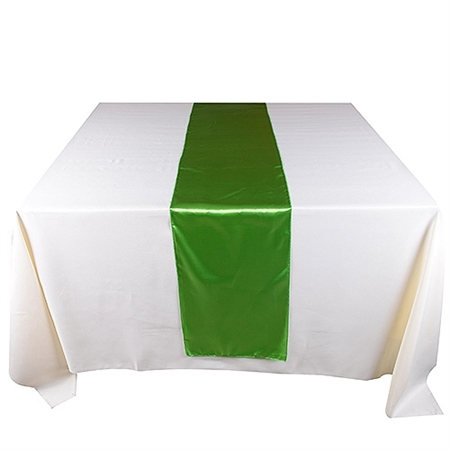 Apple Green Satin Table Runner