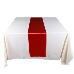 Red Satin Table Runner