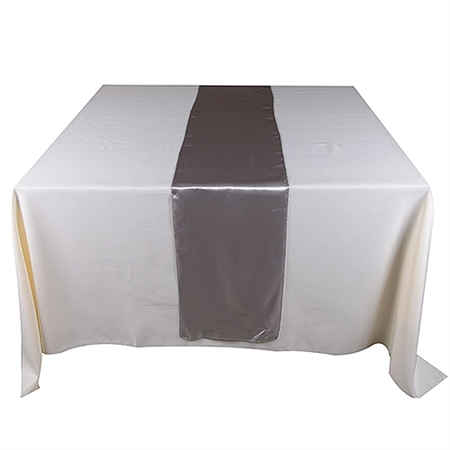 Silver Satin Table Runner