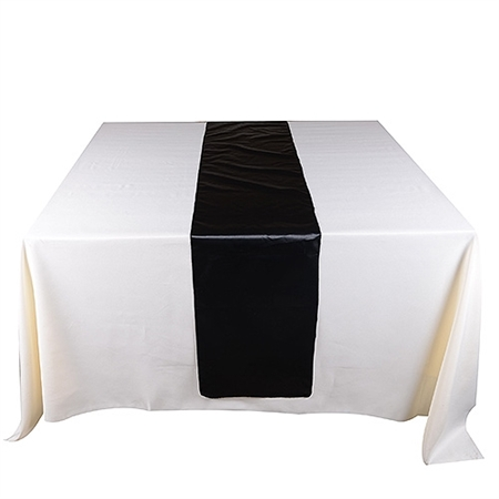 Black Satin Table Runner