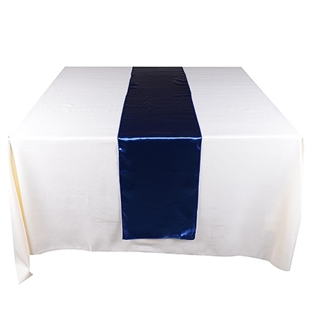 Navy Satin Table Runner