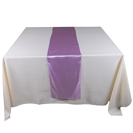 Lavender Satin Table Runner