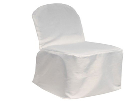 White Banquet Chair Cover Poly