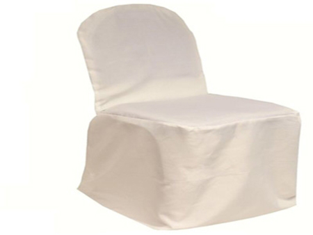 Ivory Banquet Chair Cover Poly