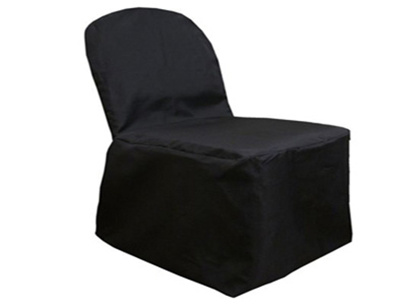 Black Banquet Chair Cover Poly