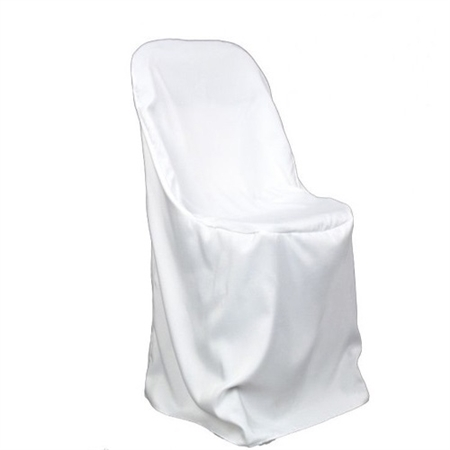 White Folding Chair Cover Poly