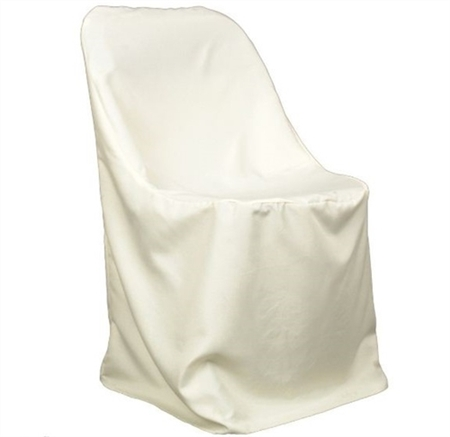 Ivory Folding Chair Cover Poly