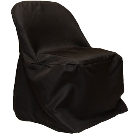 Black Folding Chair Cover Poly